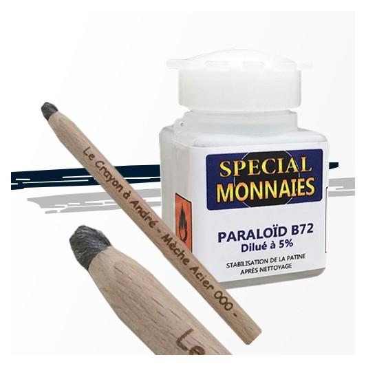 """Pack Paraloïd B44 ou B72 et Crayon Triple """"0"""""""