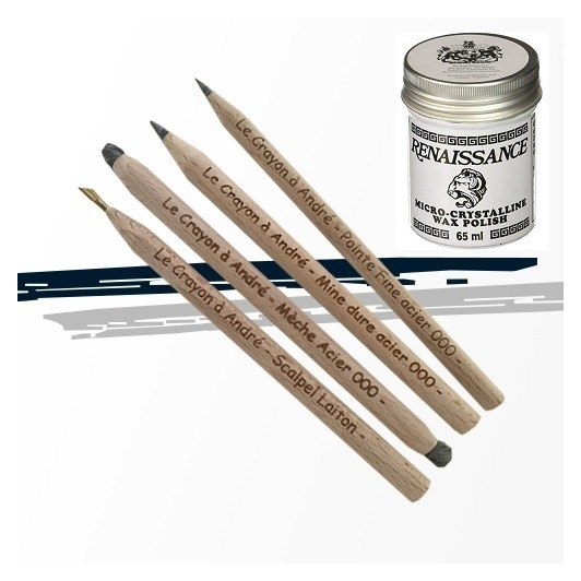 Pack 4 crayon + Cire Renaissance