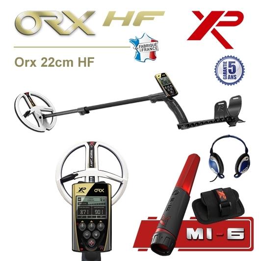 Détecteur de métaux XP Orx avec disque 22,5cm HF et pro-pointer XP MI-6