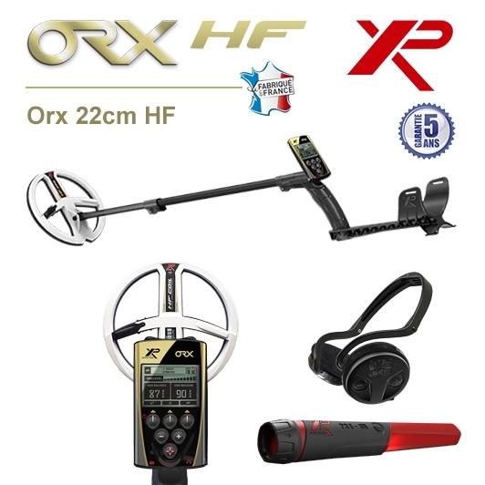 Detecteur de metaux XP Orx avec disque 22,5cm HF, pro-pointer XP MI-6 et casque sans fil WSA