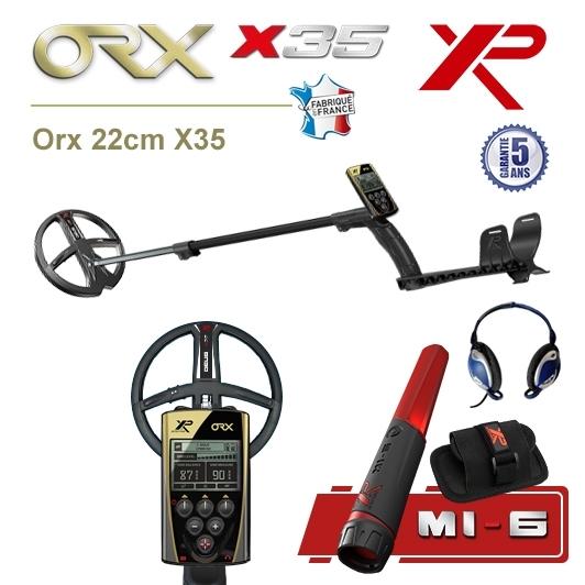 Detecteur de metaux XP Orx avec disque 22,5cm X35 et pro-pointer XP MI-6