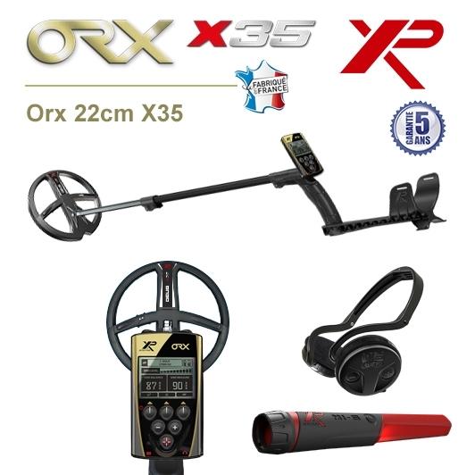 Detecteur de metaux XP Orx avec disque 22,5cm X35, pro-pointer XP MI-6 et casque sans fil WSA