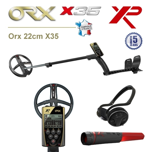 Détecteur de métaux XP Orx avec disque 22,5cm X35, pro-pointer XP MI-6 et casque sans fil WSA