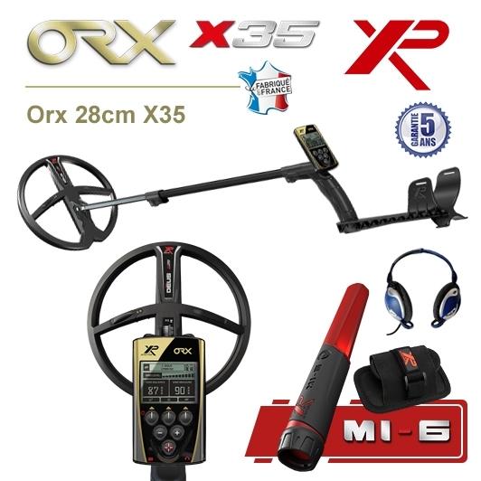 Detecteur de metaux XP Orx avec grand disque 28cm X35 et pro-pointer XP MI-6