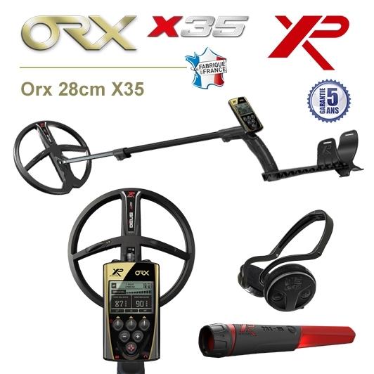 Détecteur de métaux XP Orx avec grand disque 28cm X35, pro-pointer XP MI-6 et casque sans fil WSA