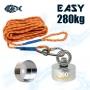 Aimant 360 degrés Easy 280kg Magnetar avec corde de 20 mètres et coque de protection