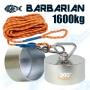 Aimant le plus puissant de 360° degrés Barbarian de 1600kg Magnetar avec corde de 20 mètres et coque de protection