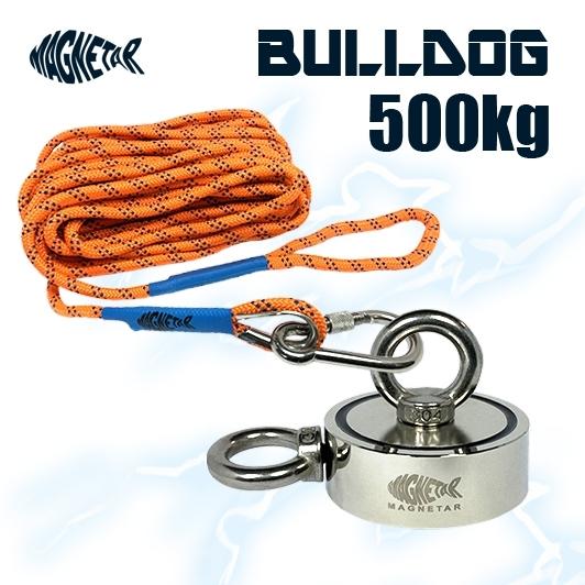 Acheter un aimant Bulldog 500kg Magnetar avec corde de 20 mètres à la boutique Mr. Detecteur en Normandie