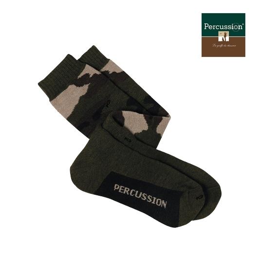Paire de chaussette couleur camo militaire Percussion