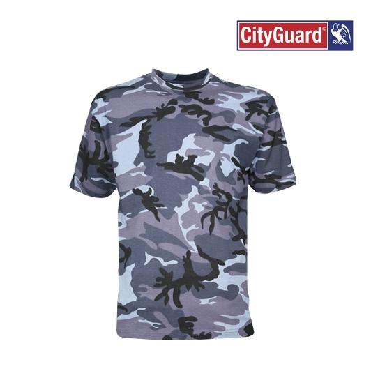 T-Shirt détection Urbain Bleu