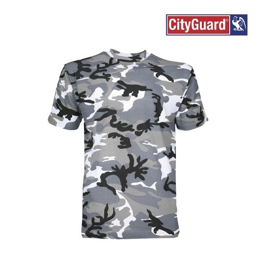 T-Shirt Camouflage Gris Militaire Cityguard