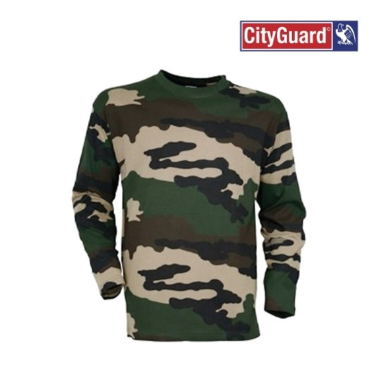 T-shirt manches longues camouflages militaire