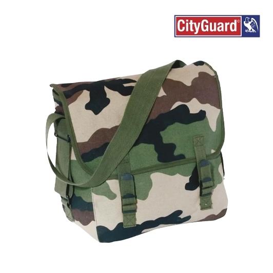 Rangement trouvailles, musette camouflage camo militaire
