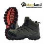 Paire de chaussures de randonnée verte  kaki Stepland Quercy