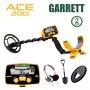 Détecteur de métaux Garrett Ace 200i avec protège-disque, casque Treasuresound et pelle Draper