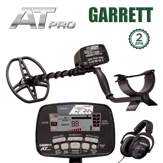 Détecteur de métaux Garrett AT-Pro avec casque MS-2