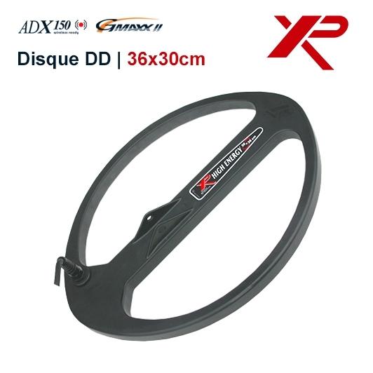 puissant disque de 36x30 cm double d, pour detecteur adx 150 gmaxx et adventis