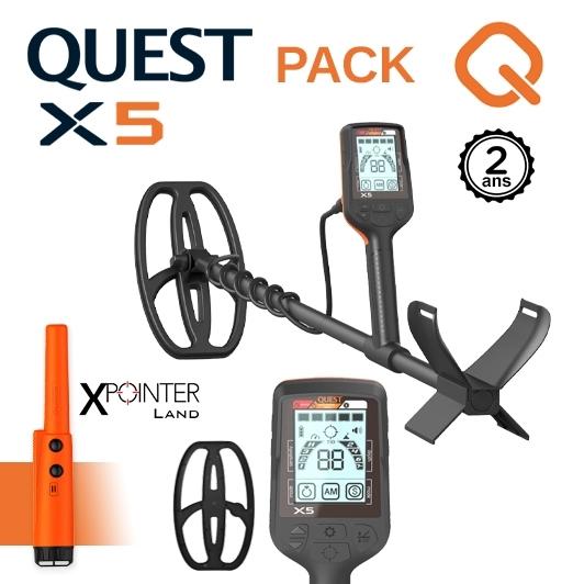Detecteur de metaux Quest X5 avec Pinpointer XPointer