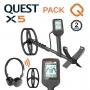 Detecteur de metaux Quest X5 avec casque sans fil