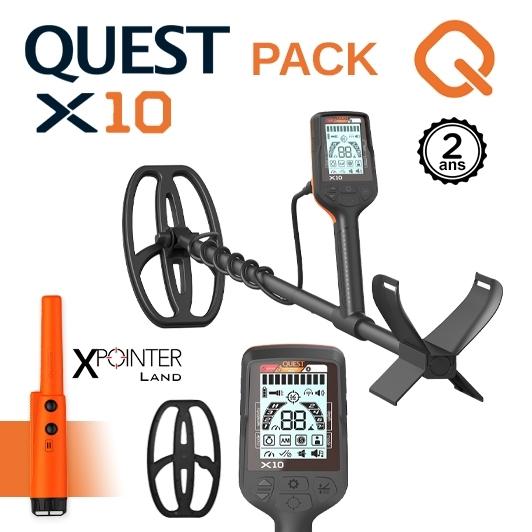 Le détecteur de métaux Quest X10 équipé d'un Pinpointer XPointer