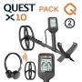 Detecteur de metal Quest X10 avec casque sans fil