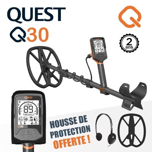 Détecteur de métaux Quest Q30 nouvelle génération