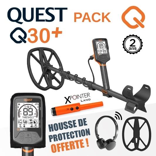 Détecteur Q30+ avec casque sans fil et Pinpointer