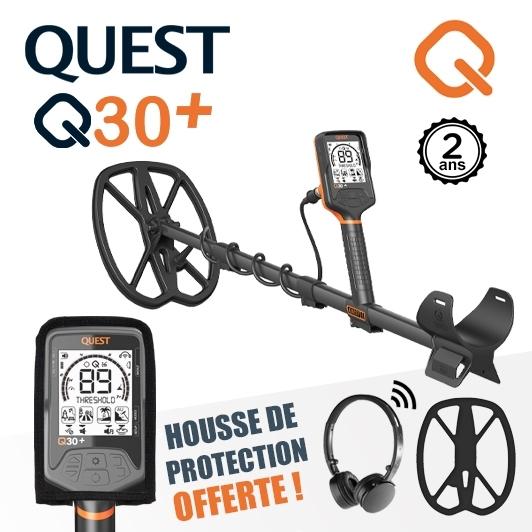 Detecteur de metaux Quest Q30+ avec casque sans fil