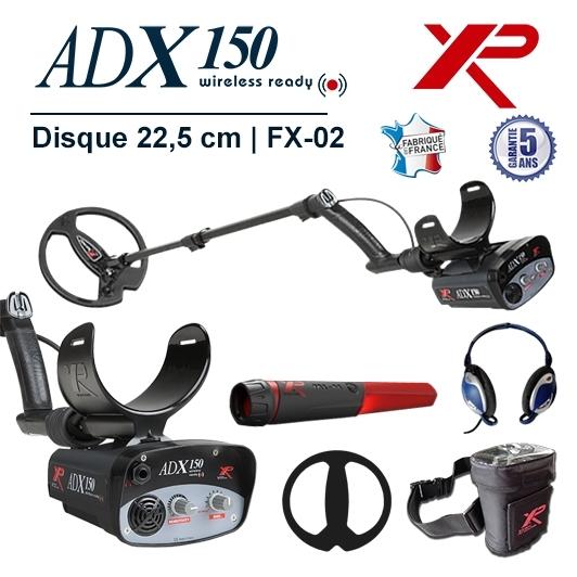 Detecteur de metaux XP Adx 150 muni du disque de detection de 22,5 cm et d'un Pinpointer MI-4