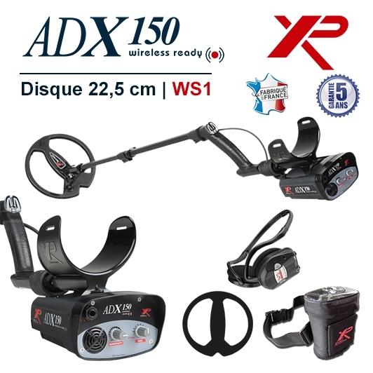 Detecteur de metaux français XP Adx 150 avec casque sans fil WS1