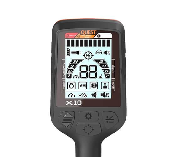Le détecteur de métaux Quest X10 avec un nouveau mode de discrimination des ferreux