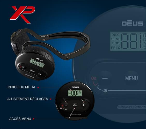 Détecteur de métaux XP Deus Lite avec disque 28 cm, et casque WS4